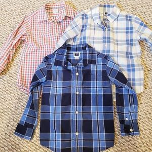 Janie and Jack crewcuts 3T button down shirt lot
